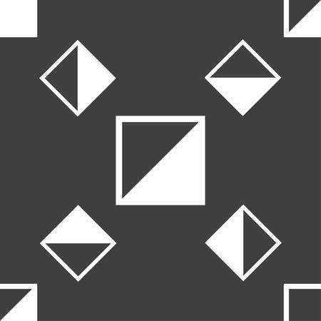 contraste: contrastar icono de signo. Patr�n transparente sobre un fondo gris. Ilustraci�n vectorial