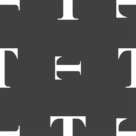 t document: Text edit icon sign. Seamless pattern on a gray background. Vector illustration Illustration