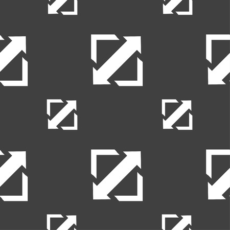 wider: Deploying video, screen size icon sign. Seamless pattern on a gray background. Vector illustration Illustration