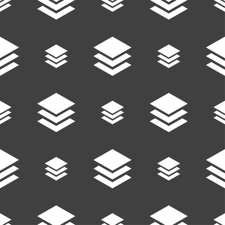 layers: Layers icon sign. Seamless pattern on a gray background. Vector illustration