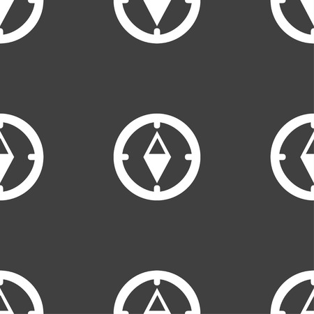 windrose: Compass sign icon. Windrose navigation symbol. Seamless pattern on a gray background. Vector illustration