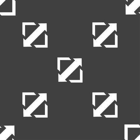 screen size: Deploying video, screen size icon sign. Seamless pattern on a gray background. Vector illustration Illustration