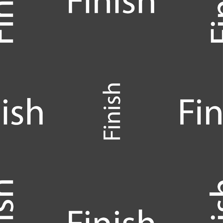 abort: Finish sign icon. Power button. Seamless pattern on a gray background. Vector illustration Illustration