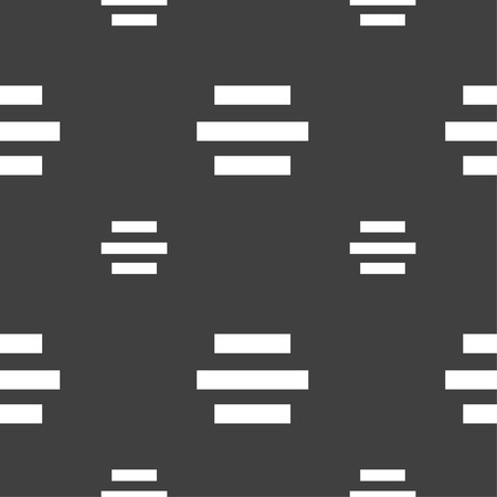 alignment: Center alignment icon sign. Seamless pattern on a gray background. Vector illustration