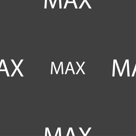 maximum: maximum sign icon. Seamless pattern on a gray background. Vector illustration