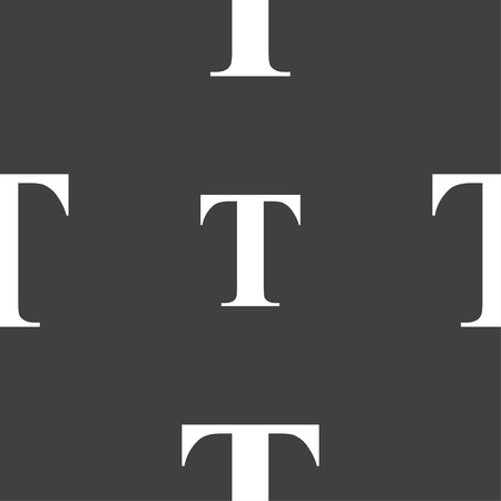 txt: Text edit icon sign. Seamless pattern on a gray background. Vector illustration Illustration