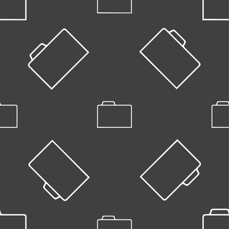 map case: Document folder sign. Accounting binder symbol. Seamless pattern on a gray background. Vector illustration Illustration