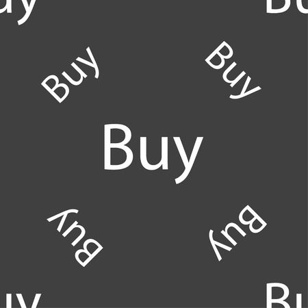 usd: Buy sign icon. Online buying dollar usd button. Seamless pattern on a gray background. illustration