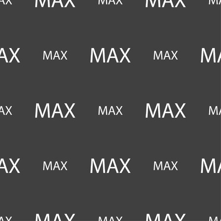 maximum: maximum sign icon. Seamless pattern on a gray background. illustration Stock Photo