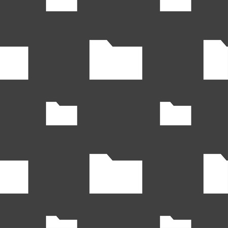 map case: Document folder icon sign. Seamless pattern on a gray background. illustration