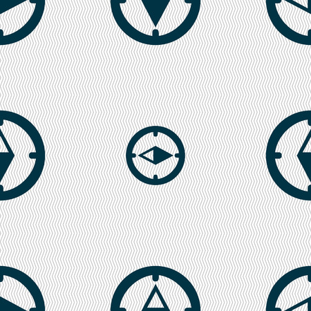 windrose: Compass sign icon. Windrose navigation symbol. Seamless abstract background with geometric shapes. illustration Stock Photo