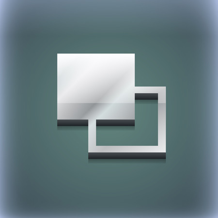 photoshop: Active color toolbar icon symbol. 3D style. Trendy, modern design with space for your text illustration. Raster version