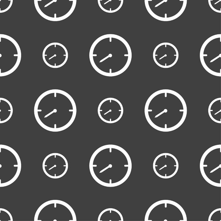 interval: Timer sign icon. Stopwatch symbol.. Seamless pattern on a gray background. illustration Stock Photo