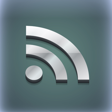 rss feed icon: RSS feed icon symbol. 3D style. Trendy, modern design with space for your text illustration. Raster version