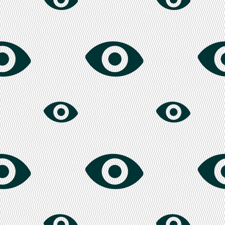 the sixth: sixth sense, the eye icon sign. Seamless pattern with geometric texture. illustration