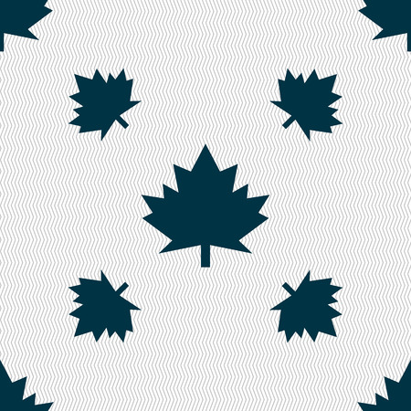 canadian state flag: Maple leaf icon. Seamless pattern with geometric texture. illustration Stock Photo