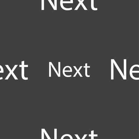 background next: Next sign icon. Navigation symbol. Seamless pattern on a gray background. illustration