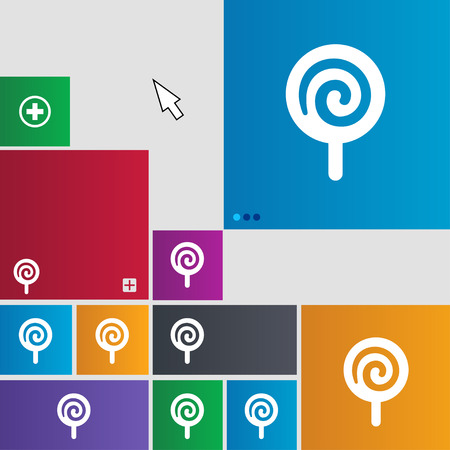 night stick: candy icon sign. buttons. Modern interface website buttons with cursor pointer. illustration