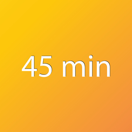 45: 45 icon symbol Flat modern web design with long shadow and space for your text. illustration Stock Photo