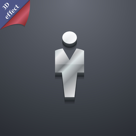 trendy male: Human, Man Person, Male toilet icon symbol. 3D style. Trendy, modern design with space for your text illustration. Rastrized copy