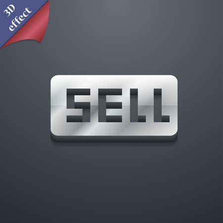 Sell, Contributor earnings icon symbol. 3D style. Trendy, modern design with space for your text illustration. Rastrized copy