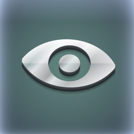 sense: sixth sense, the eye icon symbol. 3D style. Trendy, modern design with space for your text illustration. Raster version