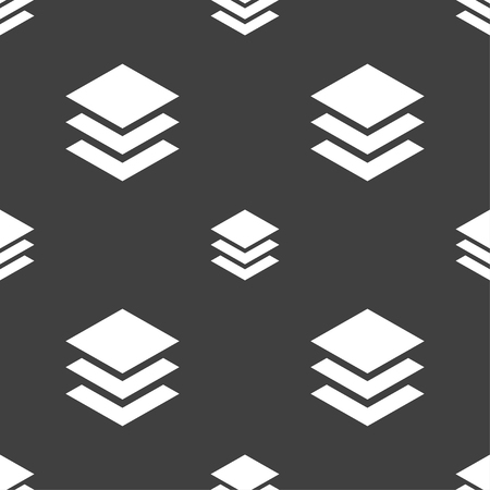 layers: Layers icon sign. Seamless pattern on a gray background. illustration