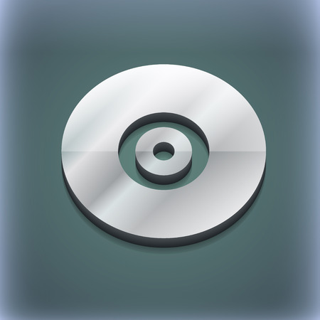 cdr: CD or DVD icon symbol. 3D style. Trendy, modern design with space for your text illustration. Raster version