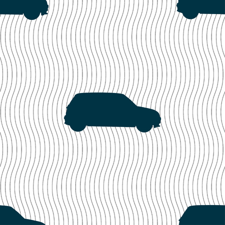 jeep: Jeep icon sign. Seamless pattern with geometric texture. illustration