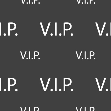 very important person: Vip sign icon. Membership symbol. Very important person. Seamless pattern on a gray background. illustration