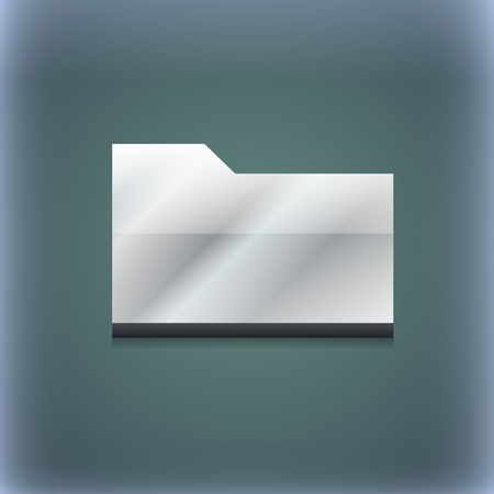 map case: Document folder icon symbol. 3D style. Trendy, modern design with space for your text illustration. Raster version