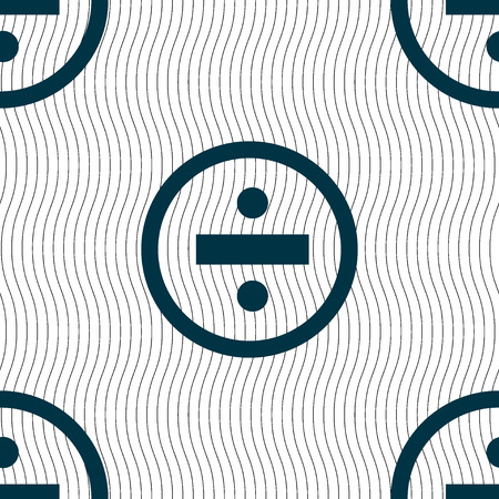 dividing: dividing icon sign. Seamless pattern with geometric texture. illustration Stock Photo