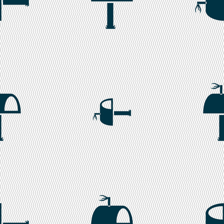 media distribution: Mailbox icon sign. Seamless abstract background with geometric shapes. illustration Stock Photo