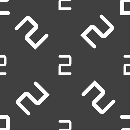 second place: Second place award sign. Winner symbol. Step two.. Seamless pattern on a gray background. illustration