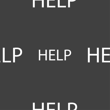 quality questions: Help point sign icon. Question symbol. Seamless pattern on a gray background. illustration