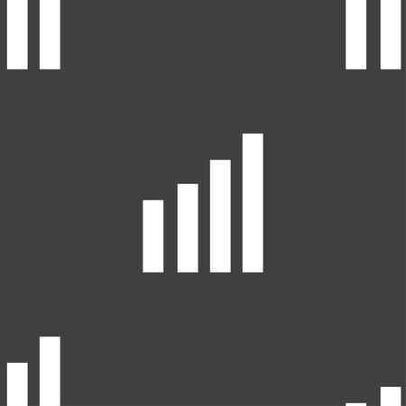 wireless signal: Mobile signal sign. Wi-fi symbol. Wireless Network icon. Wifi zone. Seamless pattern on a gray background. illustration