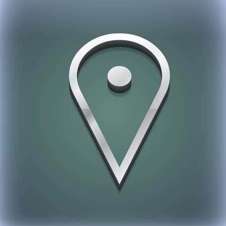 web portal: map poiner icon symbol. 3D style. Trendy, modern design with space for your text illustration. Raster version