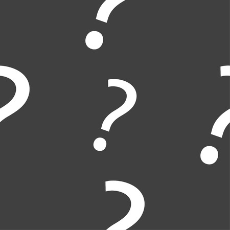 help symbol: Question mark sign icon. Help symbol. FAQ sign. Seamless pattern on a gray background. illustration Stock Photo