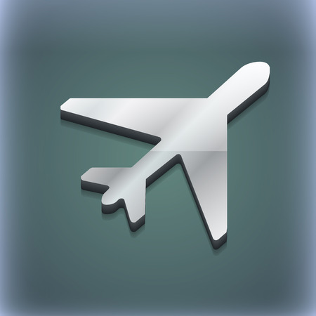 fender: airplane icon symbol. 3D style. Trendy, modern design with space for your text illustration. Raster version