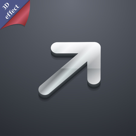 expand: Arrow Expand Full screen Scale icon symbol. 3D style. Trendy, modern design with space for your text illustration. Rastrized copy