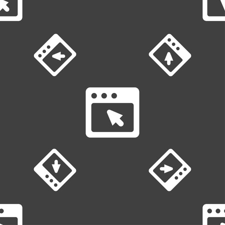 dialog box: the dialog box icon sign. Seamless pattern on a gray background. illustration