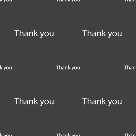gratitude: Thank you sign icon. Gratitude symbol. Seamless pattern on a gray background. illustration Stock Photo