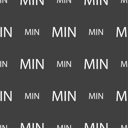 minimum sign icon. Seamless pattern on a gray background. illustration