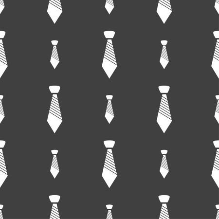 official wear: Tie sign icon. Business clothes symbol. Seamless pattern on a gray background. illustration Stock Photo
