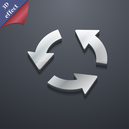 newest: Refresh icon symbol. 3D style. Trendy, modern design with space for your text illustration. Rastrized copy