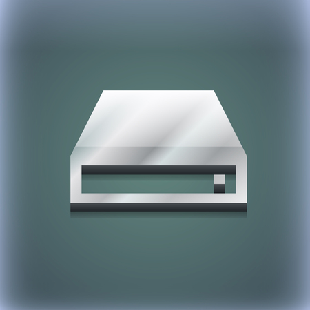 rom: CD-ROM icon symbol. 3D style. Trendy, modern design with space for your text illustration. Raster version
