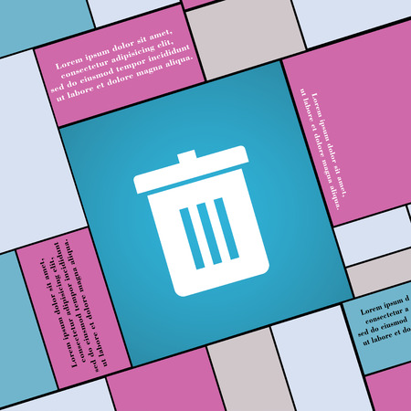 reduce: Recycle bin, Reuse or reduce icon sign. Modern flat style for your design. illustration