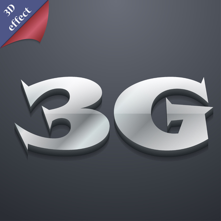 3g: 3G icon symbol. 3D style. Trendy, modern design with space for your text illustration. Rastrized copy