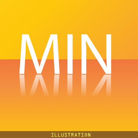 minimum icon symbol Flat modern web design with reflection and space for your text. illustration. Raster version