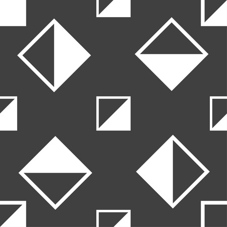 contrast: contrast icon sign. Seamless pattern on a gray background. illustration